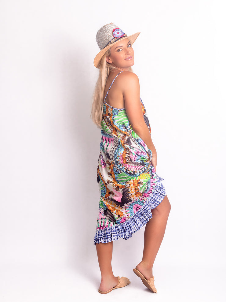 Naudic -  Astrid Short Dress  -  Multi - Elizabeth Summer