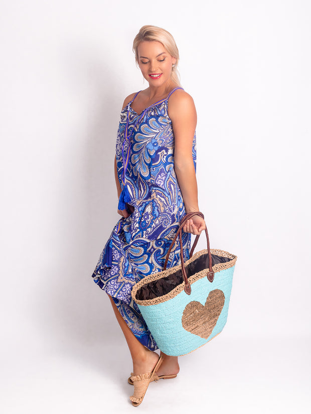 Naudic -  Maxi Dress - Paisley Blue - Elizabeth Summer