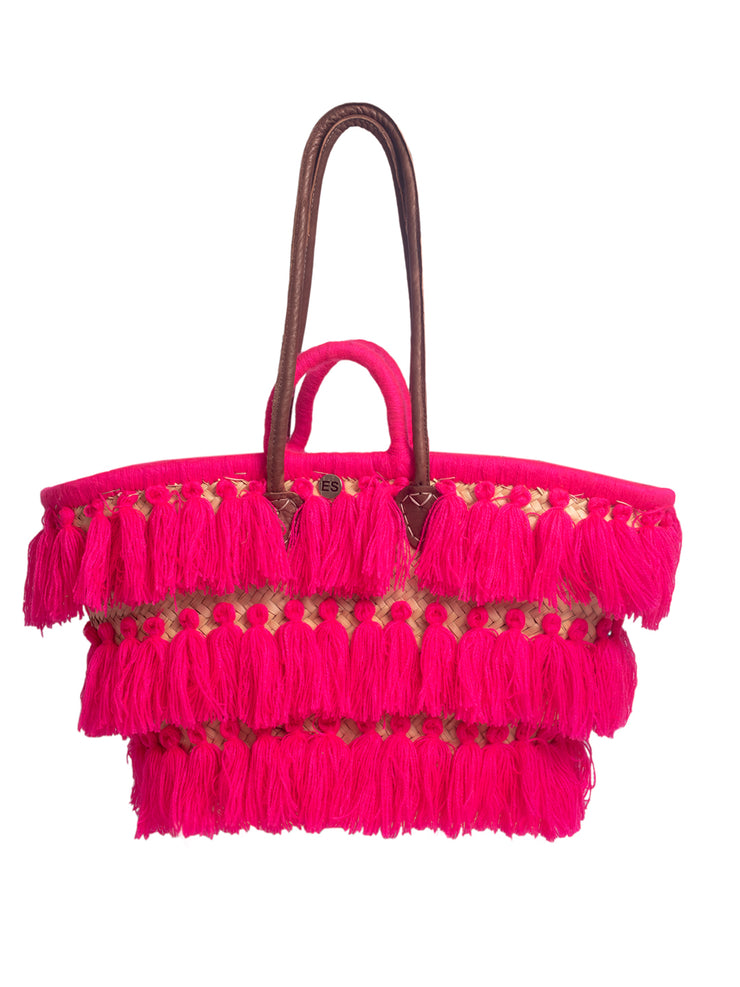 Moroccan Collection - Bright Pink Tassels - Elizabeth Summer
