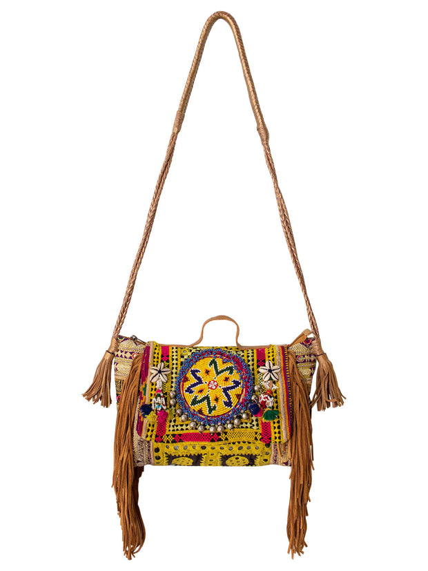 Boho Bag - Sling Bag (Yellow) - Elizabeth Summer