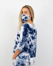 SLICK - Lilly Styled T with Seam Detail - Indigo Tye Dye
