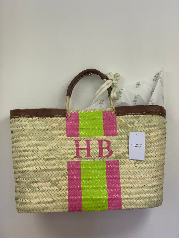 Monogram Moroccan Basket - Personalised - Rectangle