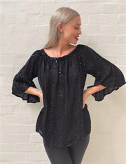 Naudic -  Vintage Range - Griffin Sparkle Shiffly Off the shoulder - Elizabeth Summer