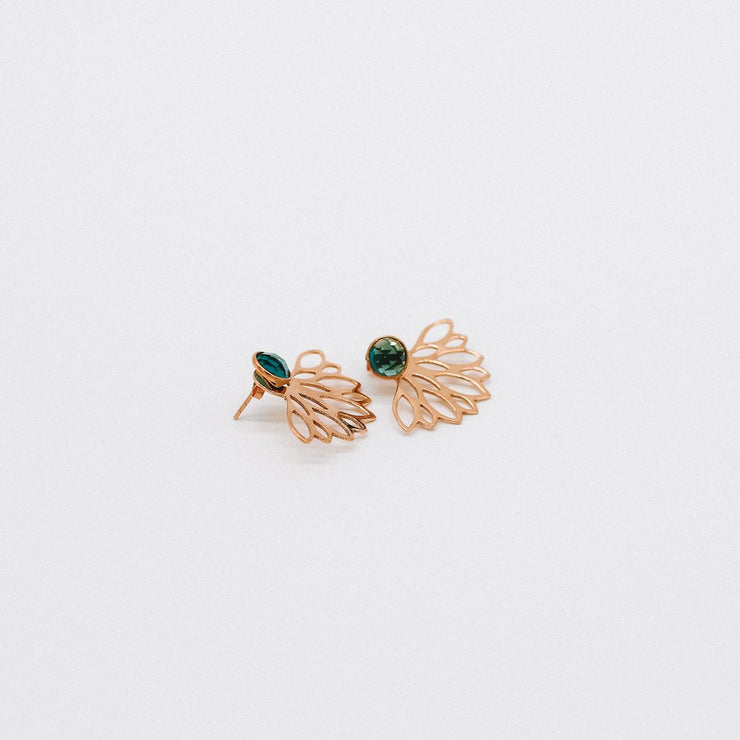 Katy Valentine Collections - Peacock Earrings - Elizabeth Summer