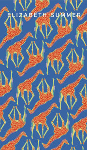 Beach Towel - Multi Giraffe (Blue)