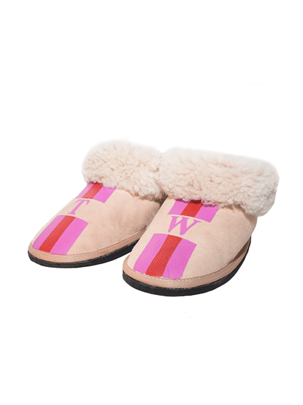 Adult Slippers: Personalised (Mongrammed) - Elizabeth Summer