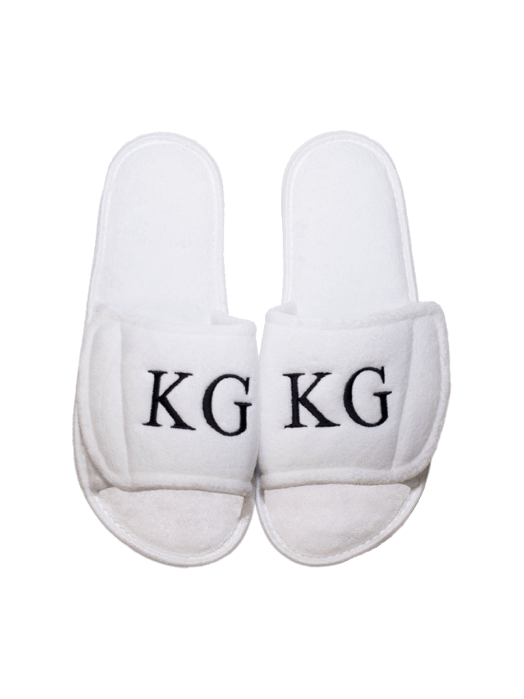 Luxury Fleece Slippers: Personalised - Elizabeth Summer