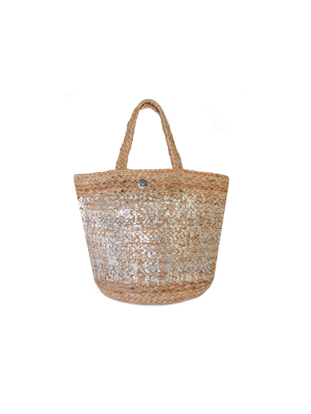 Silver Monogram Basket: Personalised - Elizabeth Summer