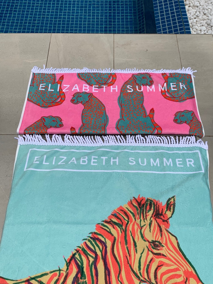 Beach Towel - Zebra - Elizabeth Summer