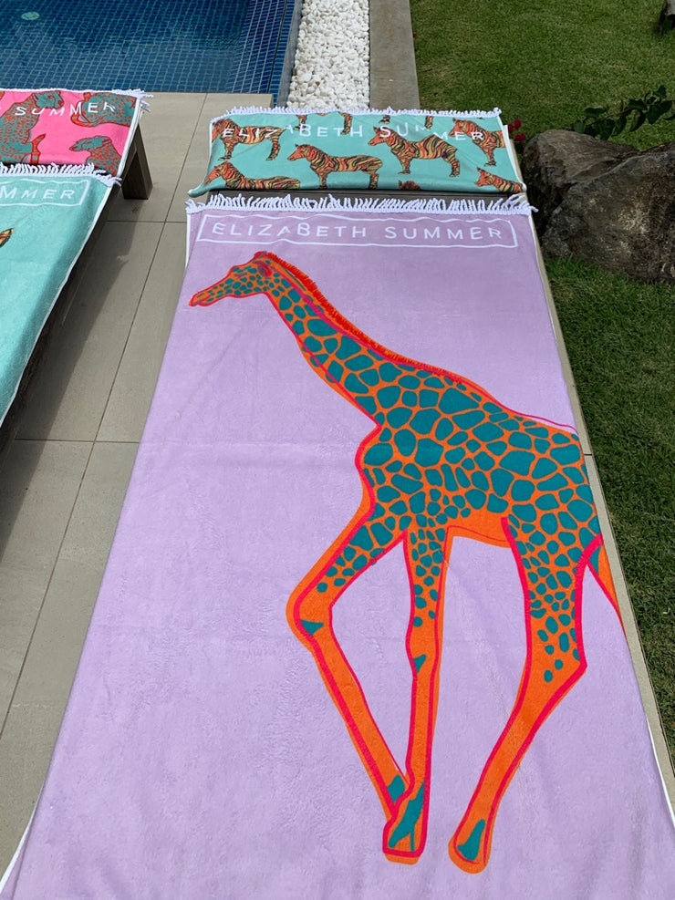 Beach Towel - Giraffe - Elizabeth Summer