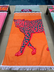 Beach Towel - Leopard - Elizabeth Summer