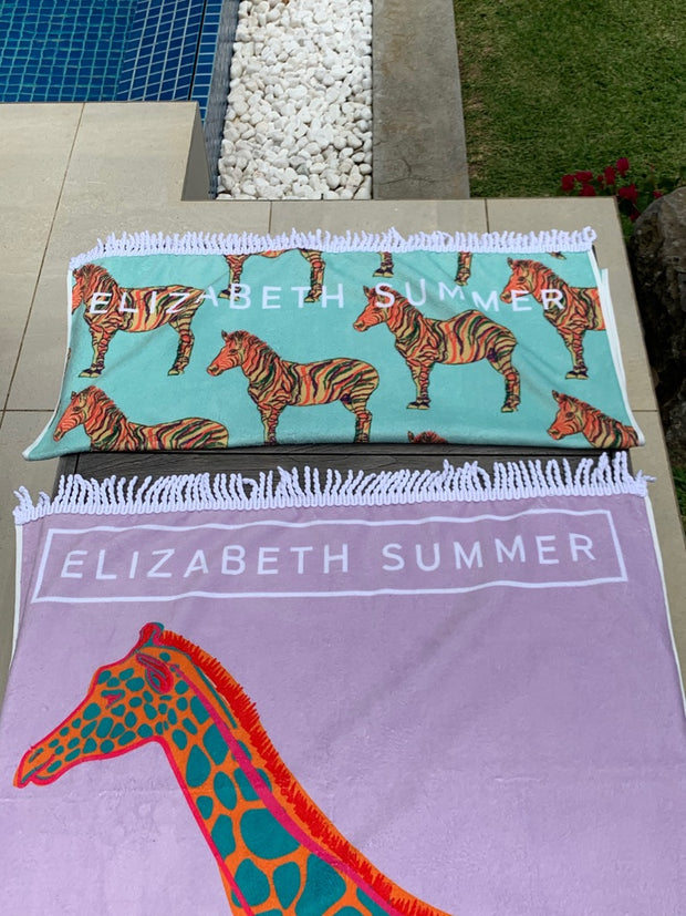 Beach Towel - Multiple Zebra - Elizabeth Summer