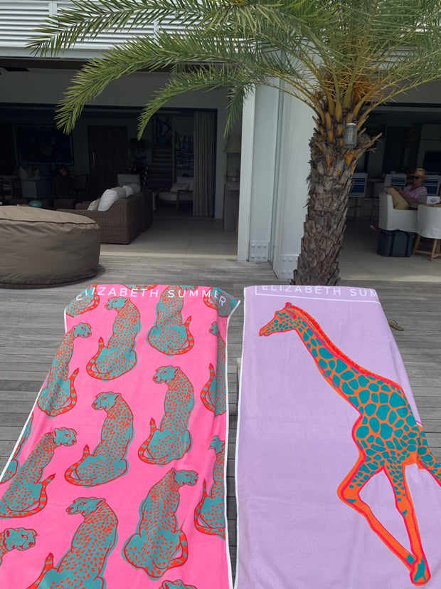 Beach Towel - Multiple Cheetah - Elizabeth Summer