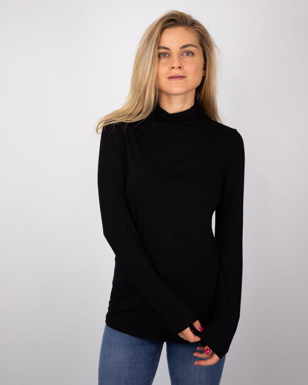 Jessica - Turtle Neck - Black - Elizabeth Summer