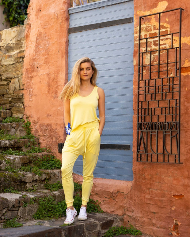 SLICK Bianca Harem Pants - Yellow