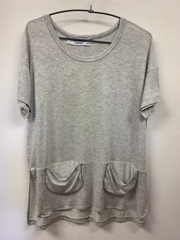 Classic Tee with pockets - Grey