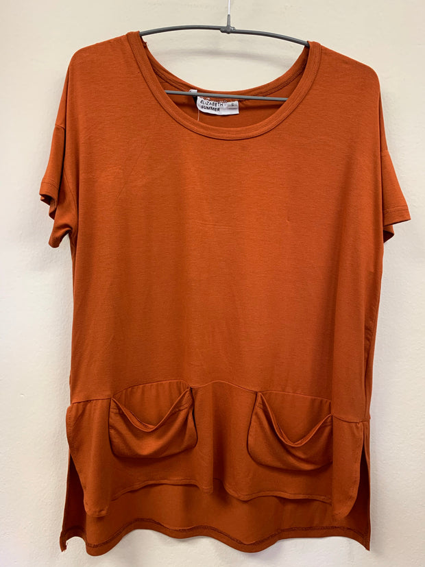 Classic Tee with pockets - Orange