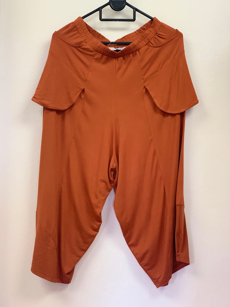 Elizabeth Summer Pocket Pants - Burnt Orange