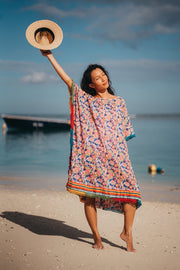 Naudic - The Sun Sylph Roxy Kaftan Short - Moulin Rouge Navy - Elizabeth Summer