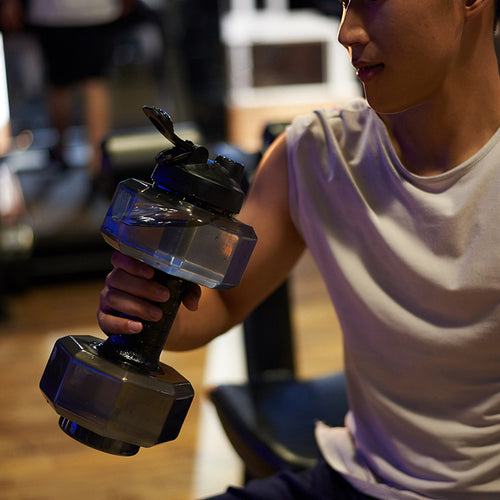 Dumb Bell Shaped Multipurpose Water Bottle