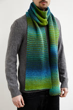 Load image into Gallery viewer, Aqua Knitted Scarf