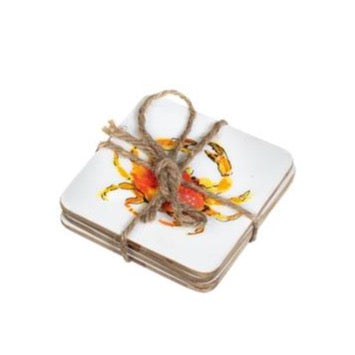 Set of 4 Crab Coasters