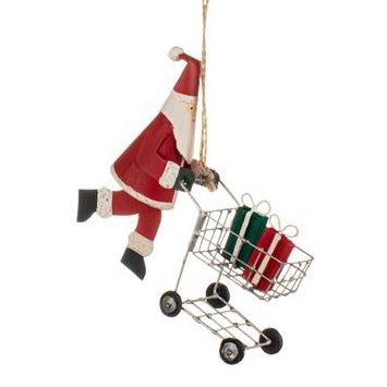 Shopping Santa Decoration