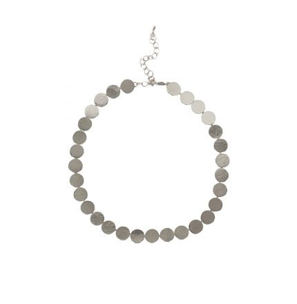 Anais Collar Necklace Silver