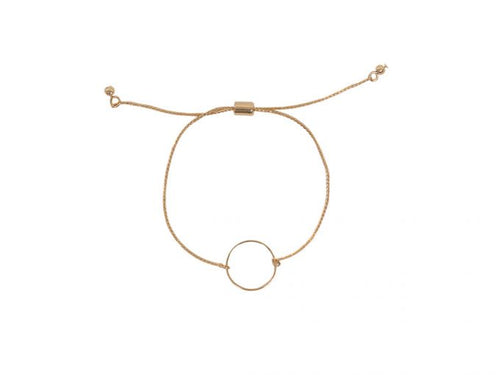 Lottie Circle Bracelet Rose Gold