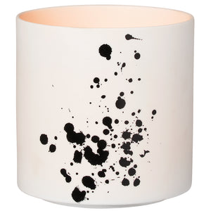 White & Black Splatter Lantern