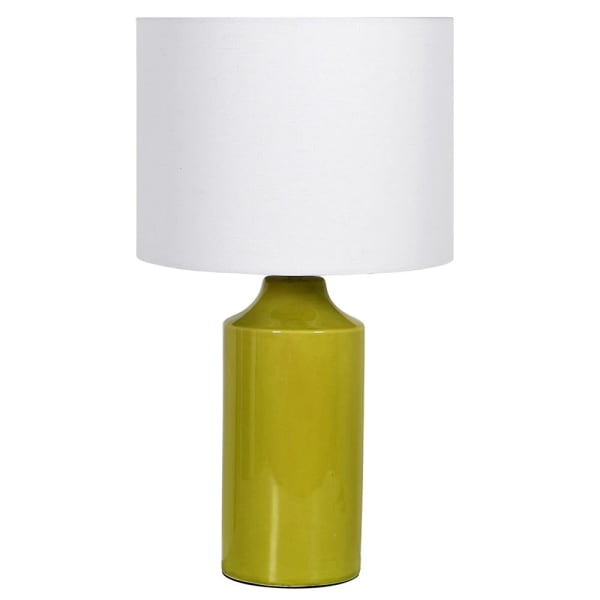 Lime Crackle Glaze Lamp