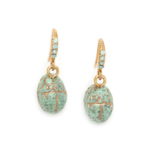 Andrea Mini Scarab Earrings