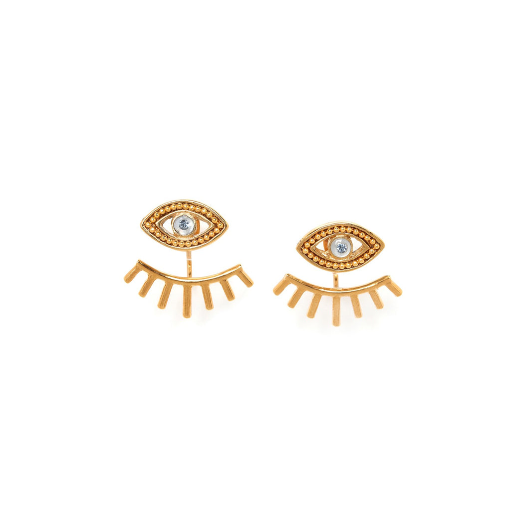Iris Two Level Earrings