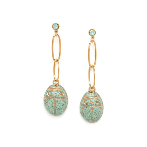 Andrea Scarab Earrings