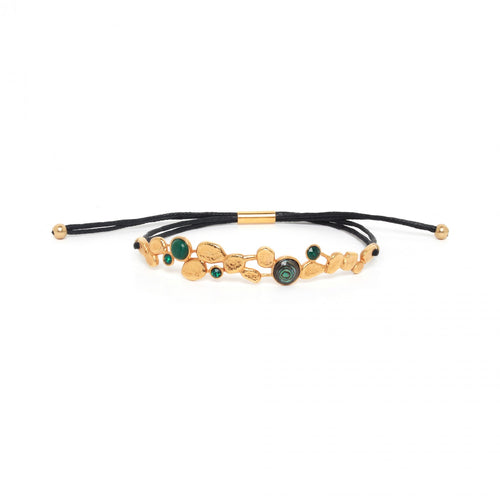 Green Becky Tube Lock Bracelet