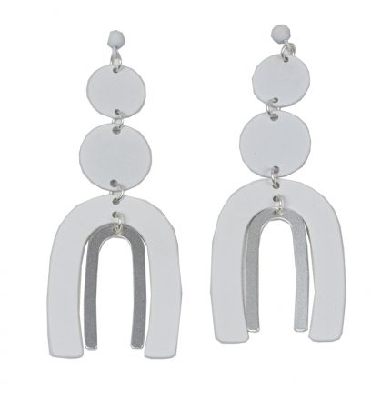 Jared Earrings White