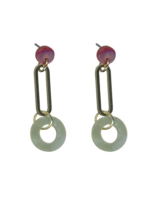 Marlene Circle Earrings Green
