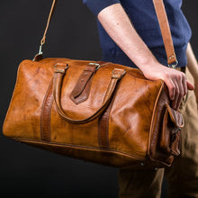 Load image into Gallery viewer, Tan Rabat Weekend Bag