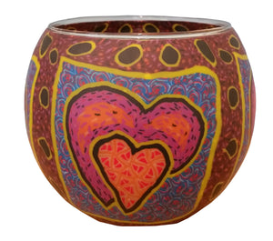 """Hearts"" Tealight Holder"