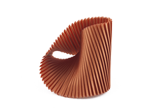 Load image into Gallery viewer, Copper Fabric Shell Cuff Bracelet