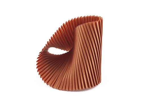 Copper Fabric Shell Cuff Bracelet