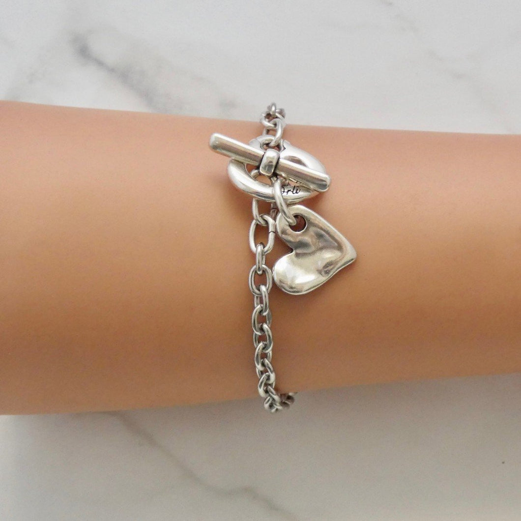 Crystal And Heart Bracelet