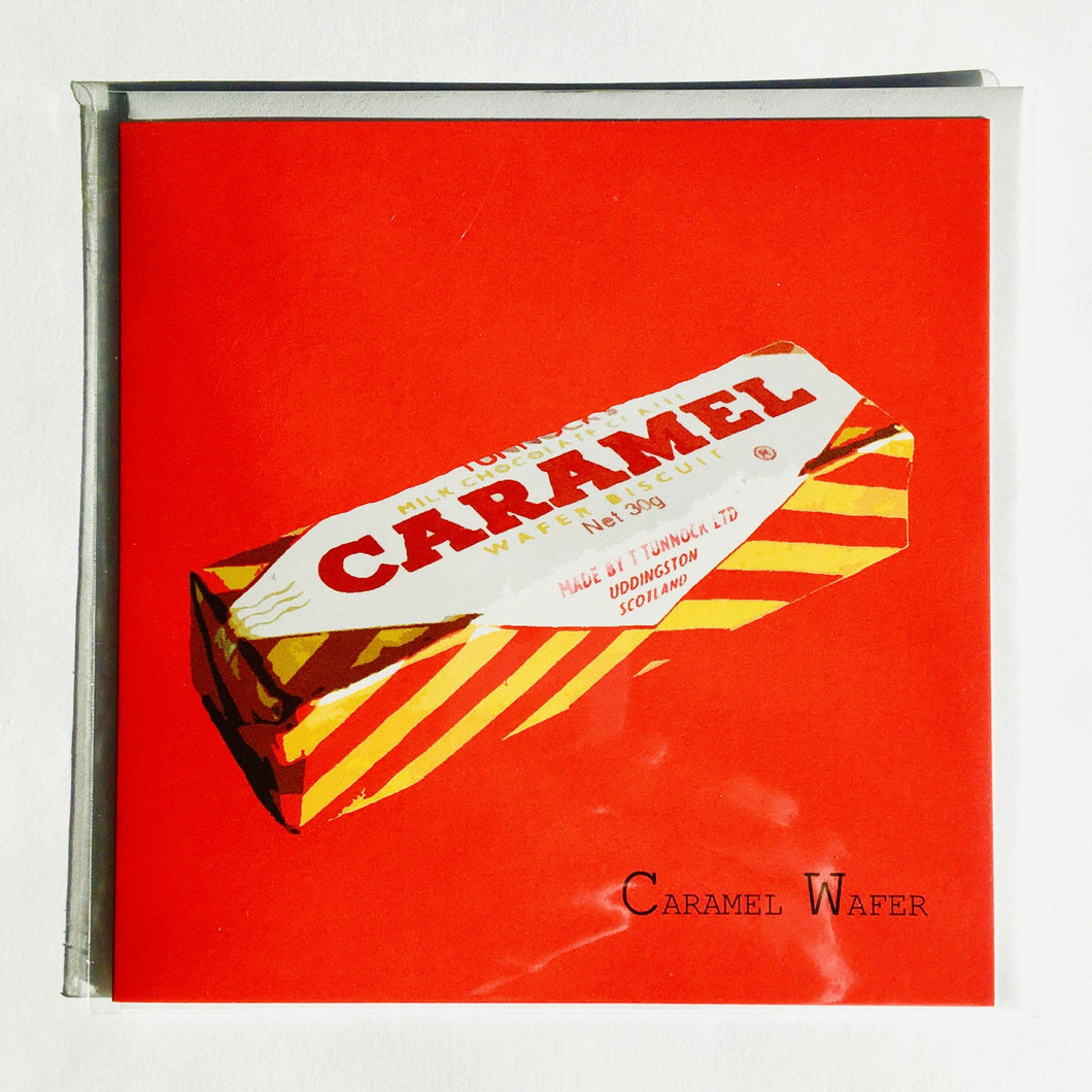 Caramel Wafer Card