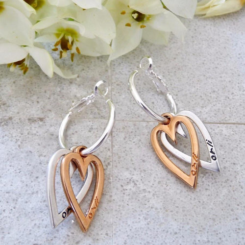 Twin Heart Hoops