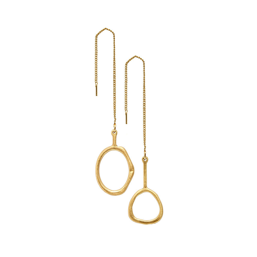Gold Plated Eve Drop Earrings