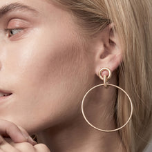Load image into Gallery viewer, Gold Plated Infinity Hoop Earrings
