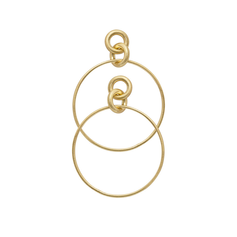 Gold Plated Infinity Hoop Earrings