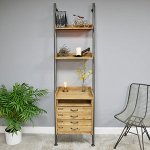 Industrial Ladder Style Shelves