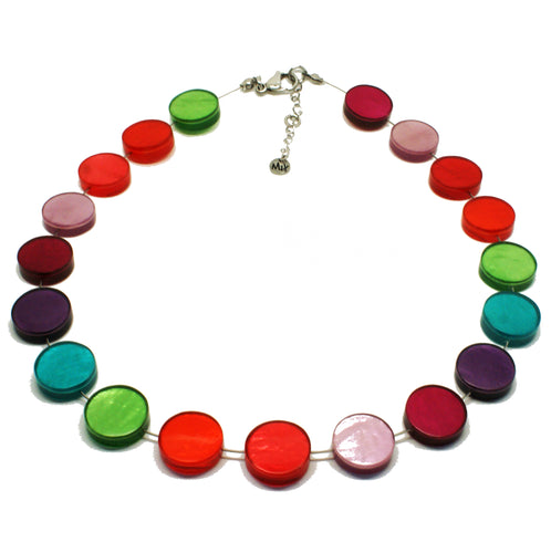 Multicoloured Shell & Resin Necklace
