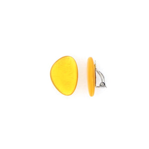 Yellow Clip-on  Earrings
